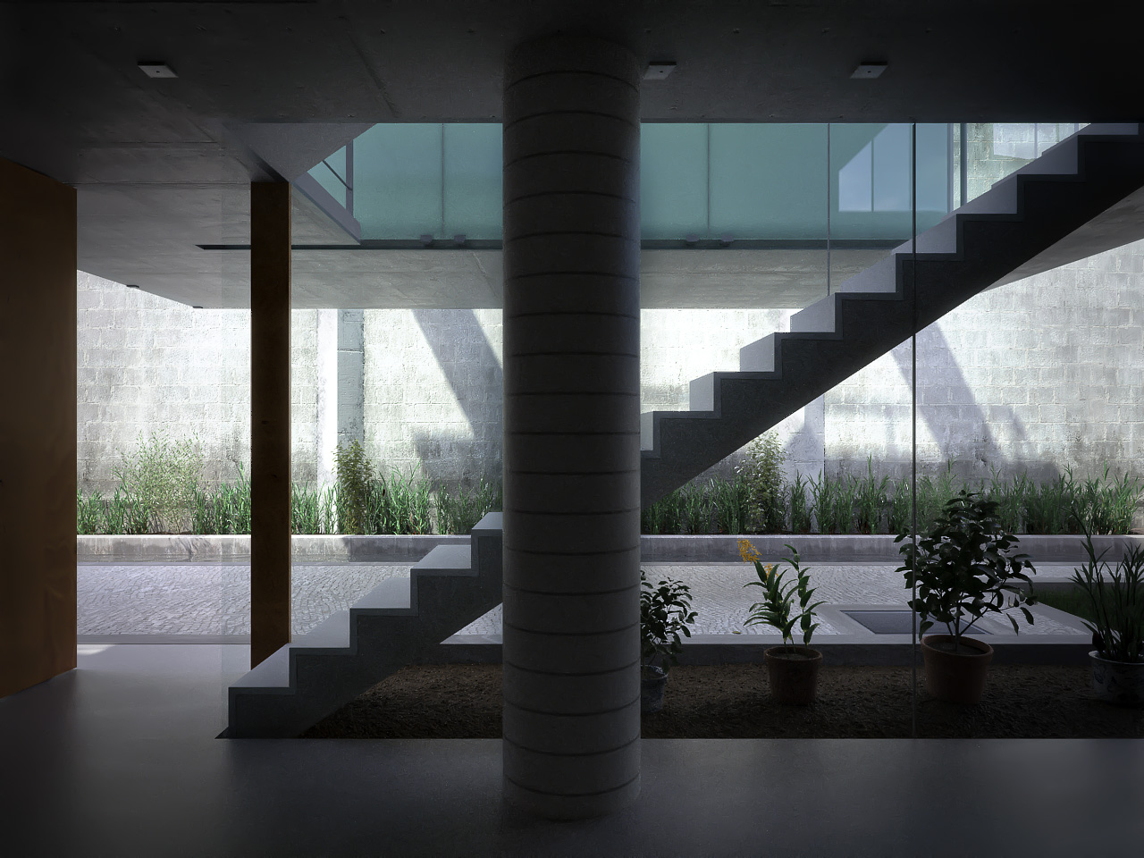Xfrog Architectural Carapicuiba House Stairs