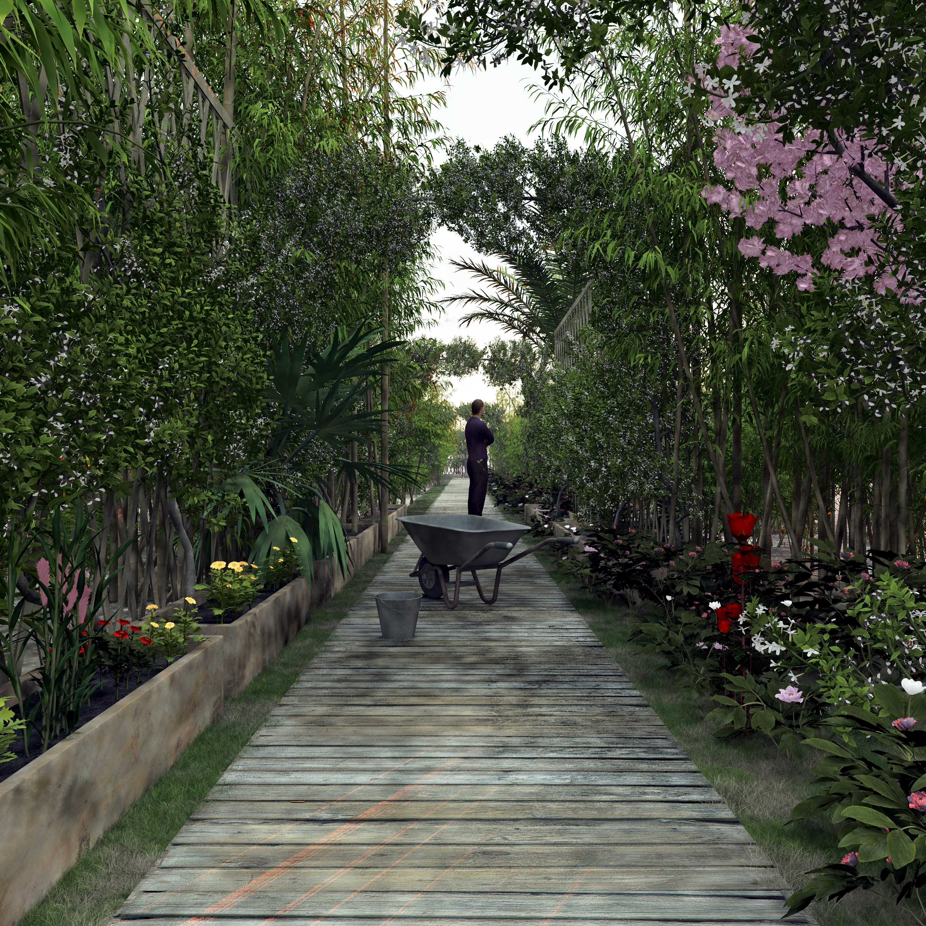 xfrog image of the day asia garden path. Black Bedroom Furniture Sets. Home Design Ideas