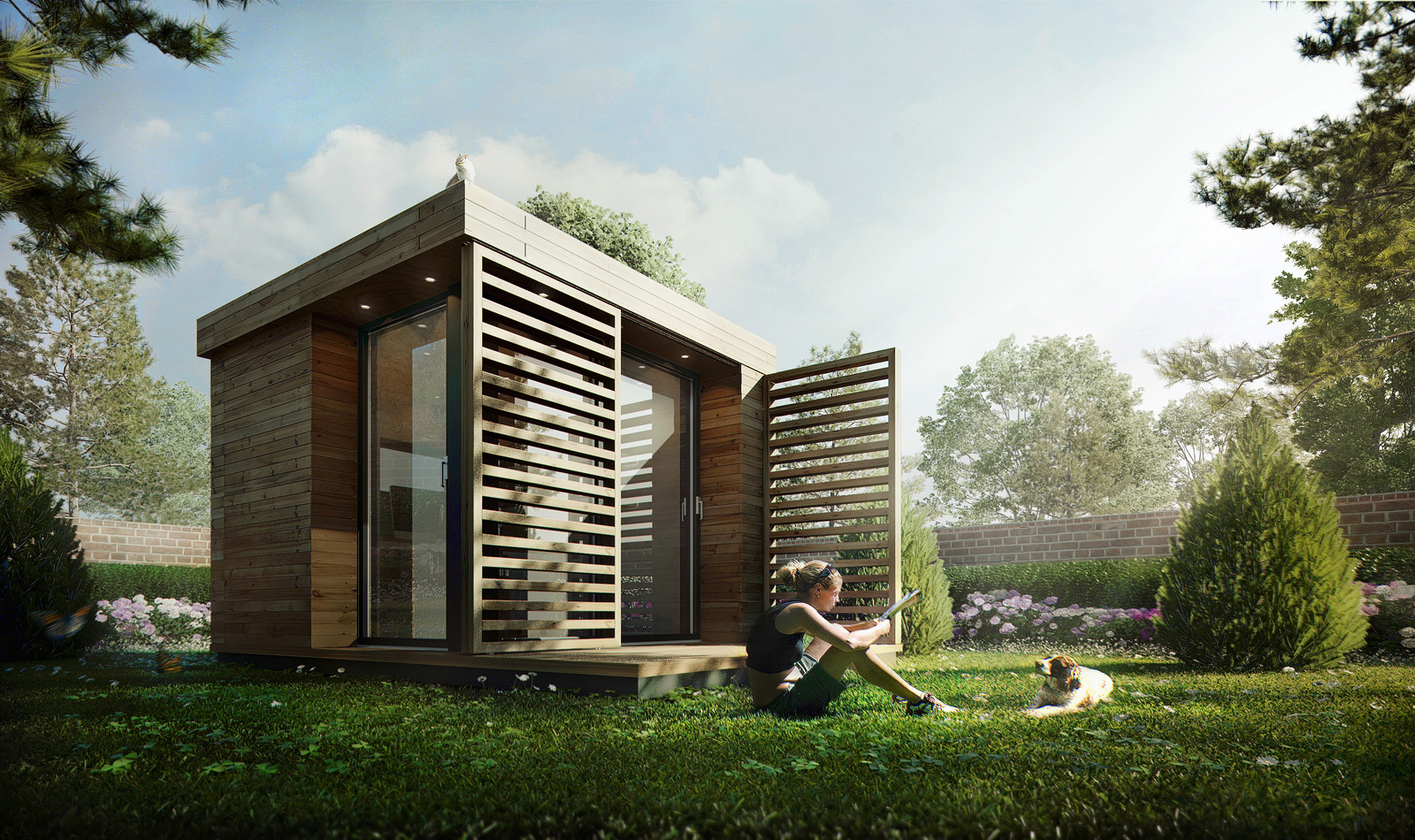 Xfrog image of the day garden cube haus for Exterior 3d rendering
