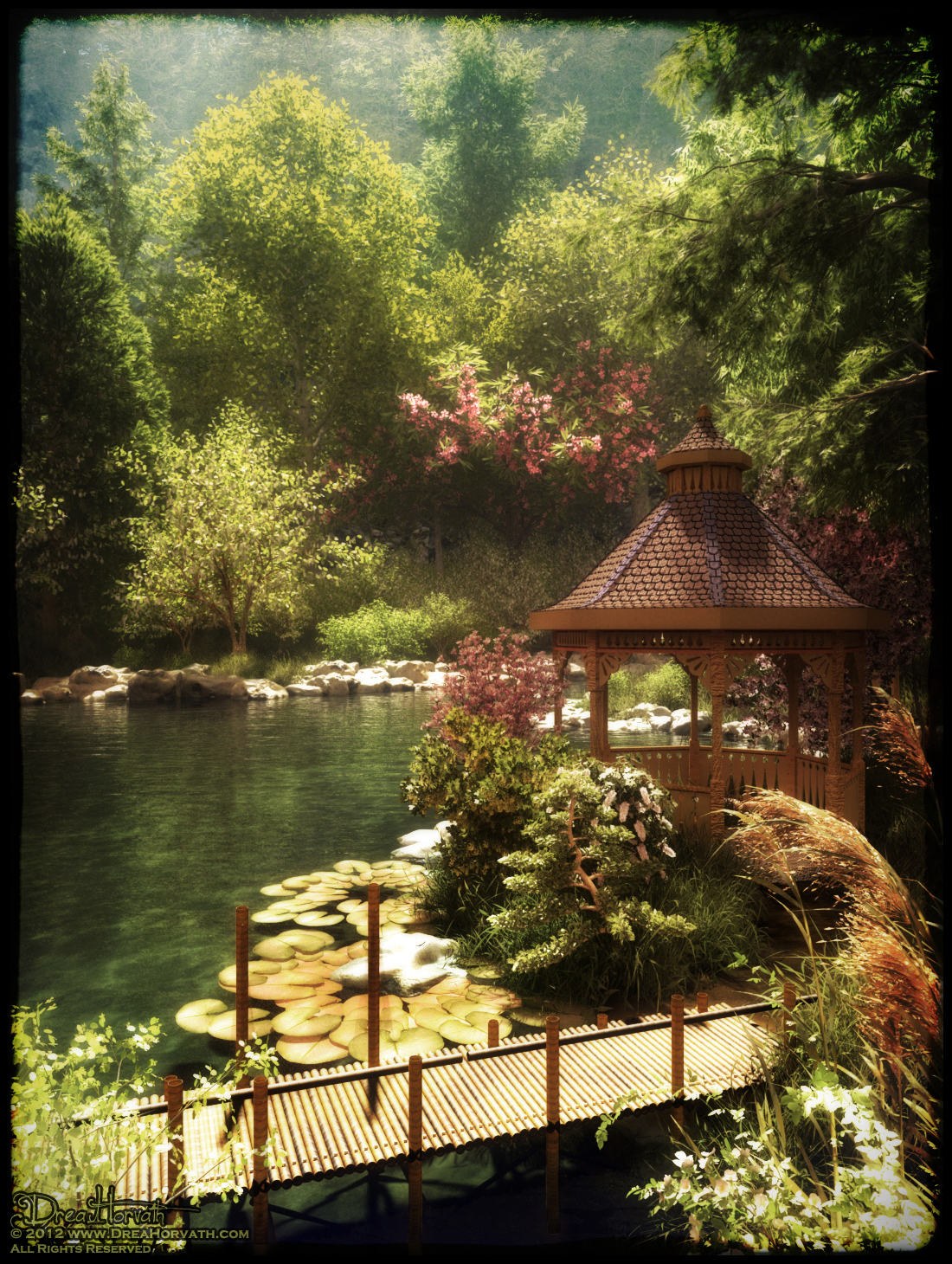 xfrog image of the day peaceful japanese garden