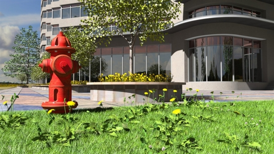 Fire Hydrant and Dandelions