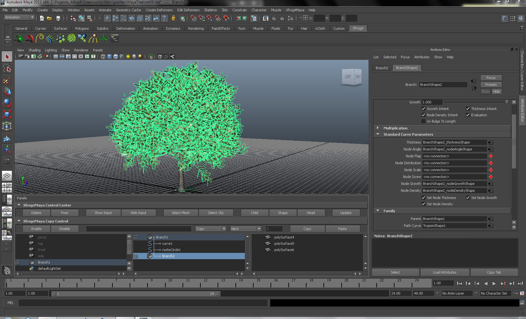 Xfrog 5 for MAYA now available - Xfrog