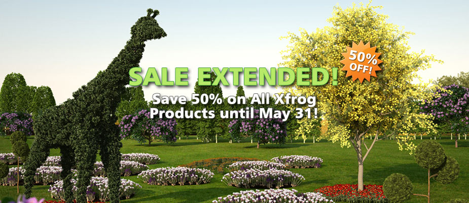 Sale Extended: 50% Off Until May 31