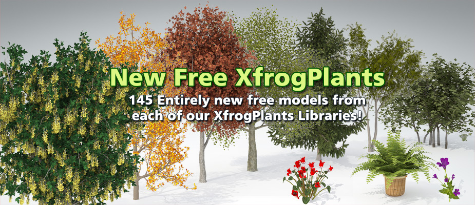 Download 145 Free 3D Plants!