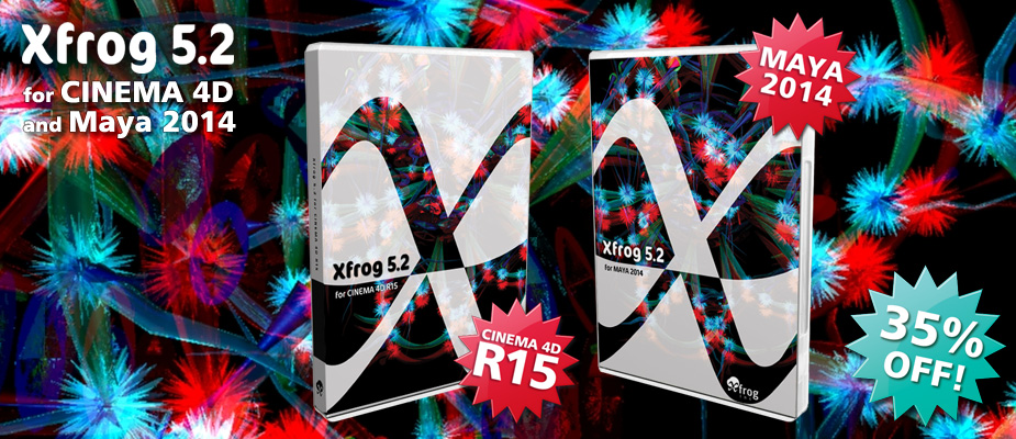 Xfrog 5.2 for Cinema 4D & Maya 2014