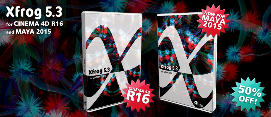 Xfrog 5.3 for Cinema 4D for R16 & Maya 2015