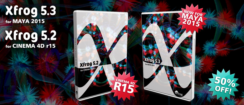 Xfrog for Cinema 4D R15 & Maya 2015