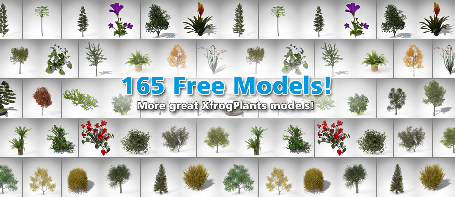 Download 165 Free 3D Plants!