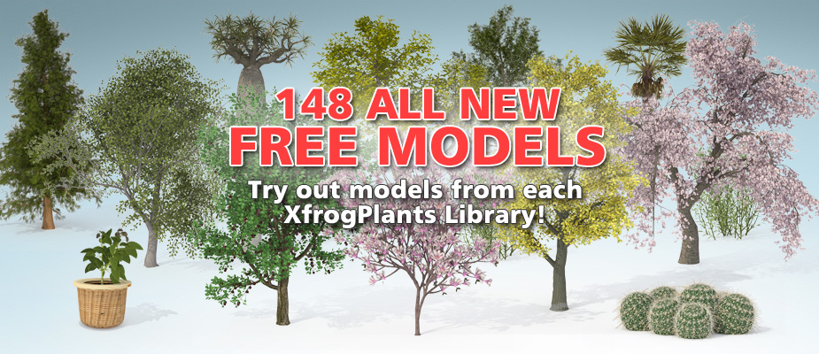 Download 148 Free 3D Plants!