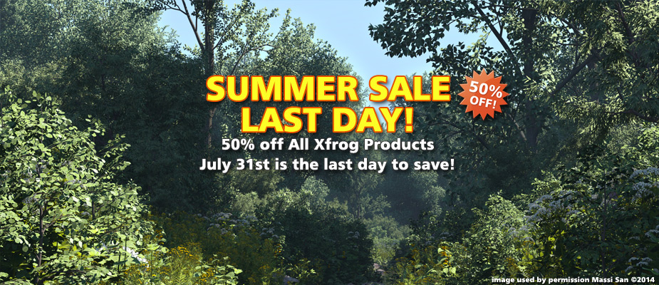 Summer Sale Last Day: 50% Off Until July 31st!