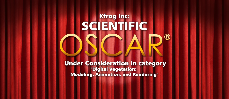 Xfrog nominated for a Scientific OSCAR®