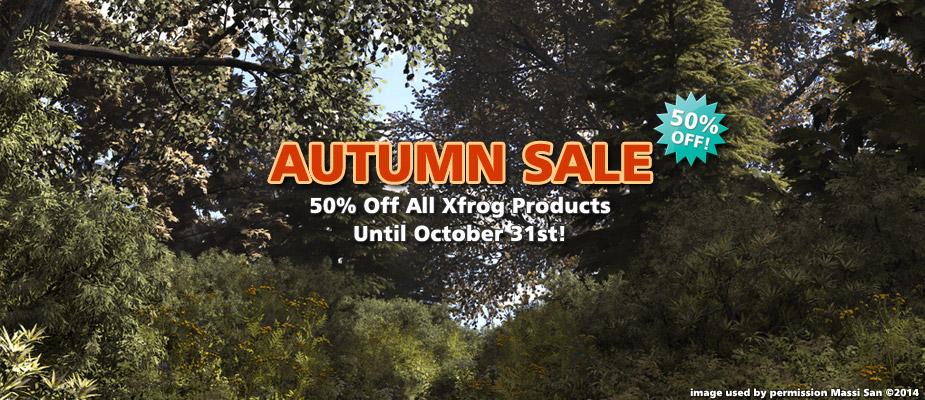 Autumn Sale : 50% Off Until October 31st!