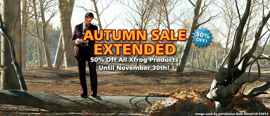 Autumn Sale Extended: 50% Off Until November 30th!