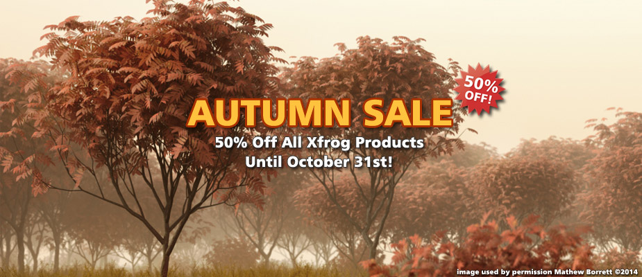 Autumn Sale : 50% Off Until October 31st!
