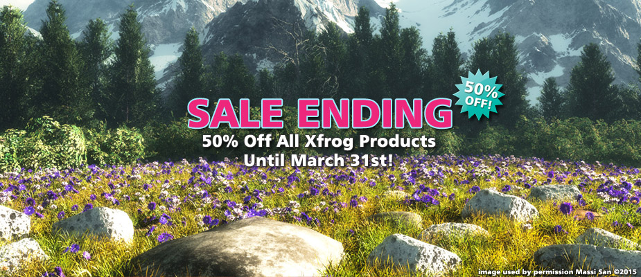 Spring Sale Ending: 50% Off Until March 31st!