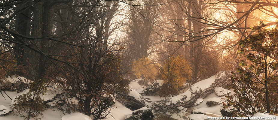"""Image of the Day for 7/27/2016: """"Winter Stream"""" by Massi-San"""