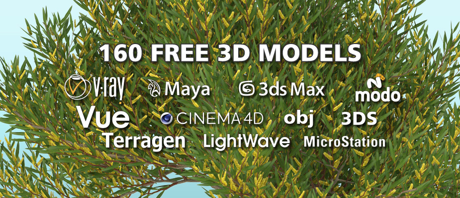 Download 160 Free 3D Plants