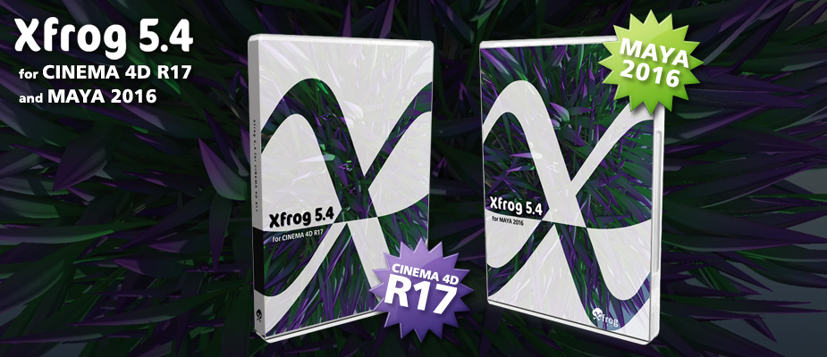 Xfrog 5.4 for Cinema 4D for R17 & Maya 2016