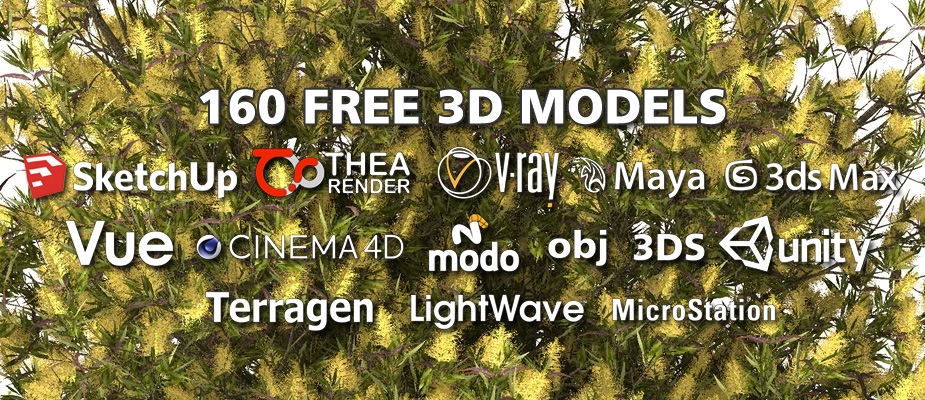 Download 160 Free 3D Plants - Xfrog