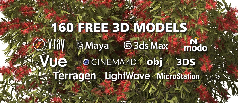 Download 160 Free 3D Plants