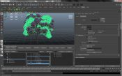 Xfrog hierarchy in Maya: Rhododendron