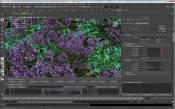 Xfrog hierarchy in Maya: Rhododendron close up
